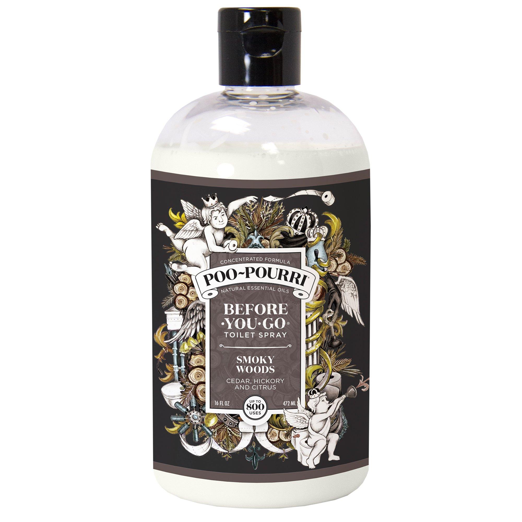 Poo-Pourri Before-You-Go Toilet Spray 16 oz Bottle, Smoky Woods Scent