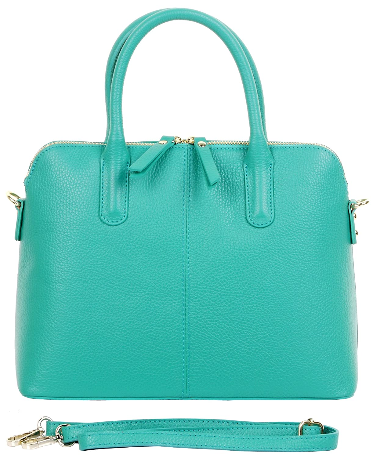 89132bbf9a1a Primo Sacchi® Ladies Italian Textured Leather Hand Made Bowling Style  Handbag Tote Grab Bag or Shoulder Bag. Includes a Branded Protective  Storage Bag
