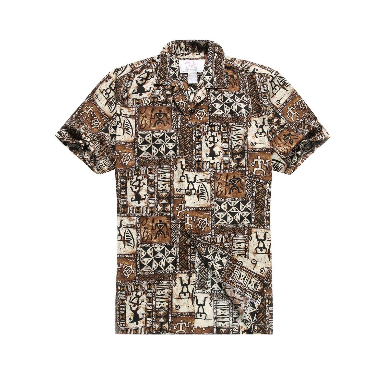 4722aa2ea Made in Hawaii Men's Hawaiian Shirt Aloha Shirt in Brown Classic Patchwork  Hawaiian at Amazon Men's Clothing store: