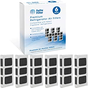 Fette Filter - Activated Carbon Refrigerator Air Filter Compatible with Paultra 2 Ultra 2 Pure Air 2 Frigidaire, Electrolux Refrigerators,Pureair Ultra ii air Filter Part #5303918847 (Pack of 6)
