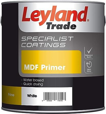 Leyland Speciality 308453 MDF Primer, White, 2.5 Litre