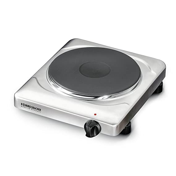 ROMMELSBACHER THS 2022/E Einzelkochplatte Gastro (XXL Profi-Gussheizplatte mit 220mm Durchmesser, 2000 W, Made in Germany) Ed
