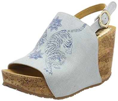 Desigual Damen Shoes_Swan Tigers Plateausandalen