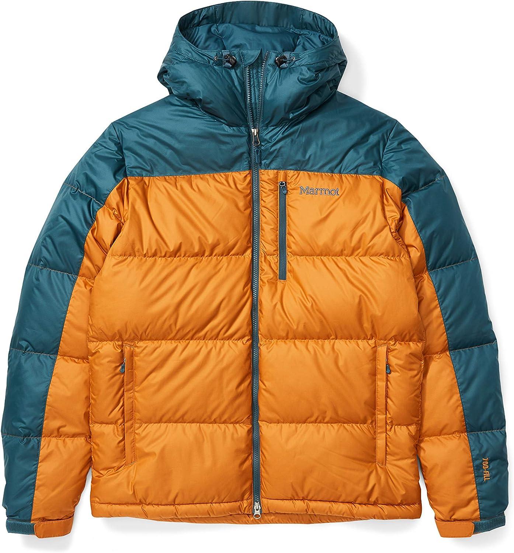 Marmot Wms Guides Down Hoody Veste en duvet isol/ée l/ég/ère facteur de gonflement de 700 Veste dext/érieur coupe-vent Femme Anorak d/éperlant