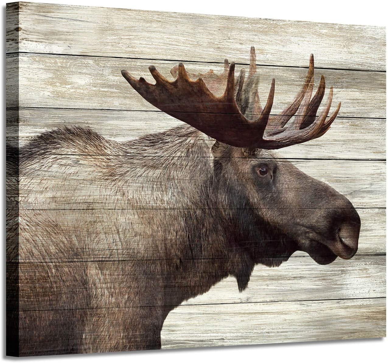 """Elk Canvas Pictures Wall art: Majestic Deer Artwork Prints on Wrapped Canvas Painting Picture for Office (24"""" x 18"""" x 1 Panel)"""