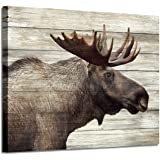 "Elk Canvas Pictures Wall art: Majestic Deer Artwork Prints on Wrapped Canvas Painting Picture for Office (24"" x 18"" x 1…"