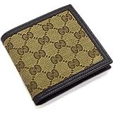 45e0fbded36a (グッチ) GUCCI 財布 二つ折り メンズ ベージュ ダークブラウン GGキャンバス レザー 150413ky9ln9903 アウトレット