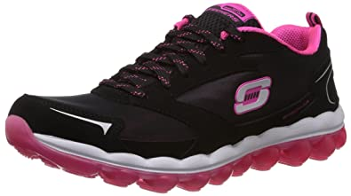 sports shoes 9a5db d12db Skechers Sport Women s Skech Air Cross Trainer Sneaker,Black Hot Pink,5 M