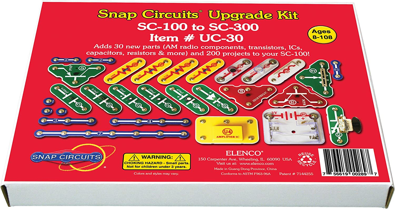 Snap Circuits UC-30 Electronics Exploration Upgrade Kit | SC-100 to SC-300 | Upgrade Junior to Classic