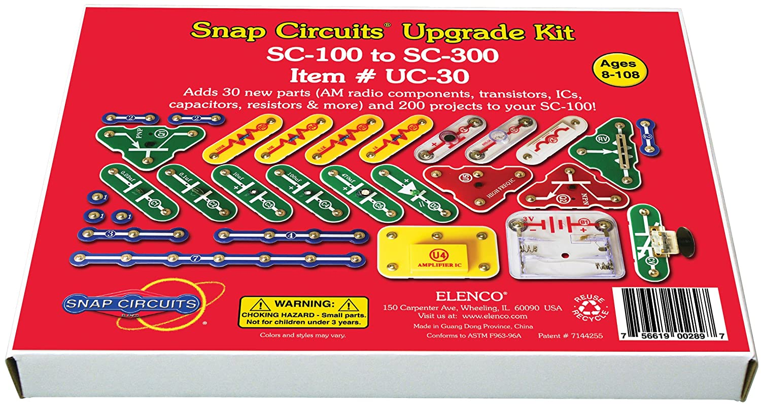 Snap Circuits Uc 30 Upgrade Kit Sc 100 To 300 Toys Circuit Review Games
