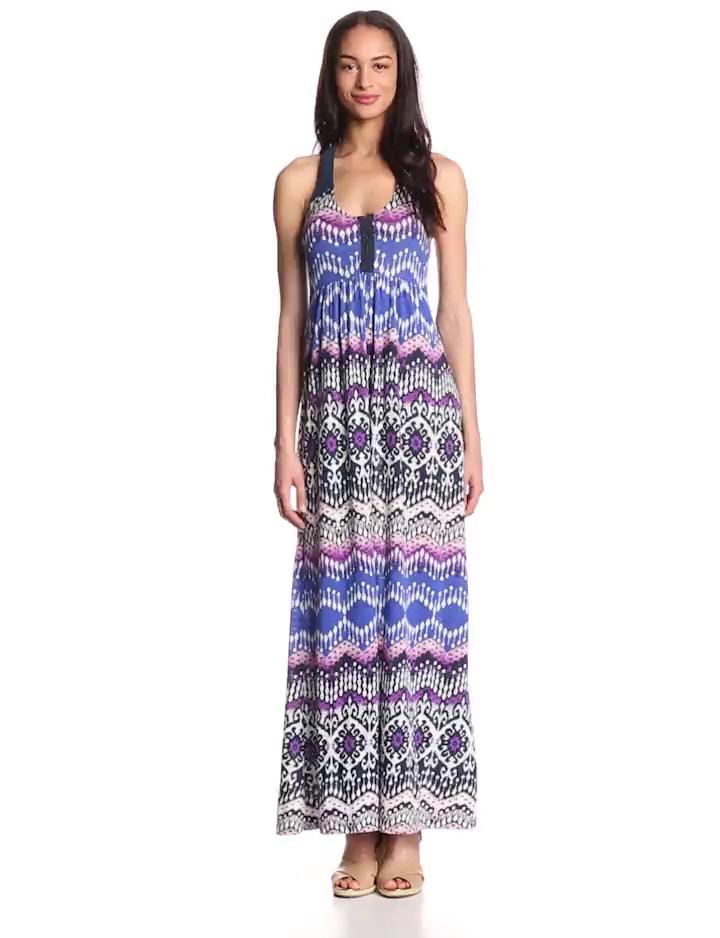 Lucky Brand Women's Tribal Print Maxi Dress