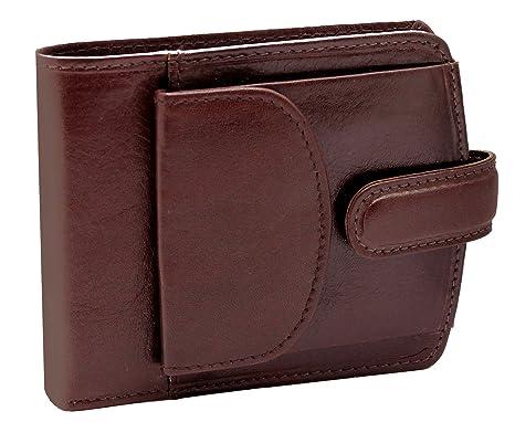 Topsum® London Bolsillo De Monedero De Lujo De Los Hombres Bolsillo Superior De Cuero Genuino Viene En Una Caja De Regalo #4009 (Marrón)