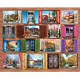Springbok Puzzles - Windows to the World - 1000 Piece Jigsaw Puzzle - Large 30 Inches by 24 Inches Puzzle - Made in USA - Unique Cut Interlocking Pieces