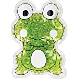 TheraPearl Children's Pals, Ribbit the Frog, Non Toxic Reusable Animal Shaped Hot Cold Therapy Pack, Flexible Compress for Injuries, Swelling, Pain Relief, Bee Stings