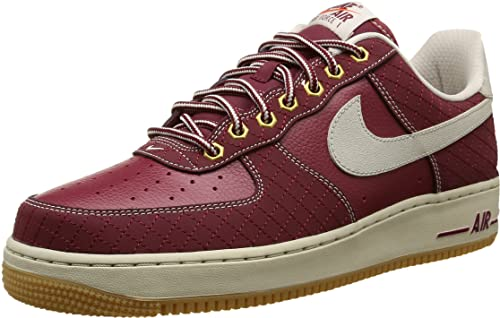 Nike Air Force 1, Zapatillas de Baloncesto para Hombre, Rojo/Blanco/Marrón (Team Red Bn-Gm Lght Brwn), 45 1/2 EU: Amazon.es: Zapatos y complementos