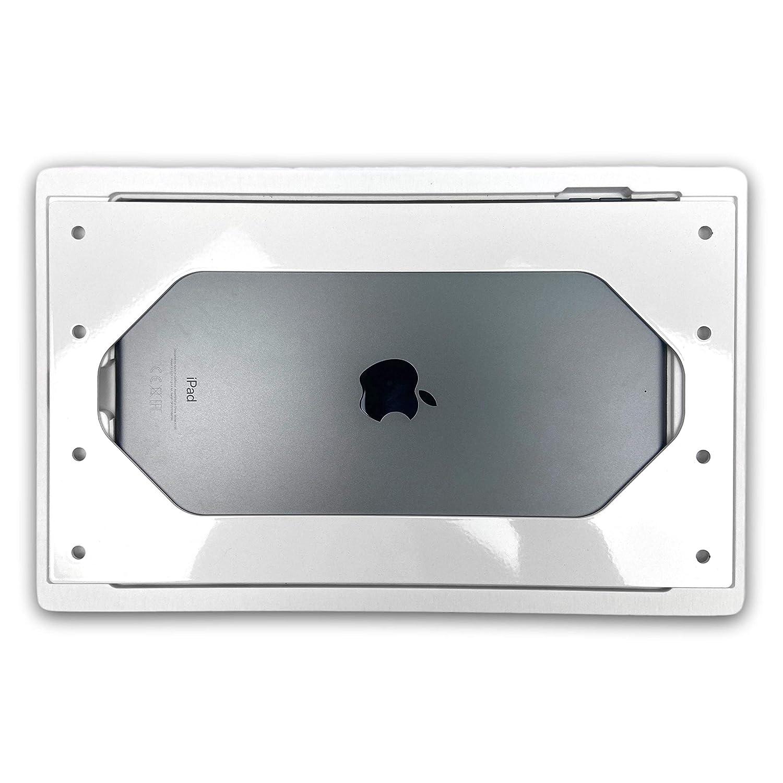 2017 NobleFrames Tablet Wandhalterung f/ür Apple iPad 7 iPad Pro 10.5 Corian weiss iPad Air 3 aus Mineralwerkstoff 2019 2019