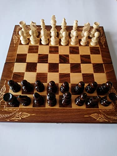 Nuevo juego de ajedrez marrón, damas, backgammon, pieza de ajedrez ...