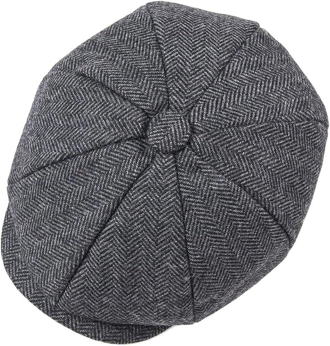 JANGOUL Boys Vintage Newsboy Cap Tweed Flat Beret Cabbie Hat for Kids Toddler Pageboy