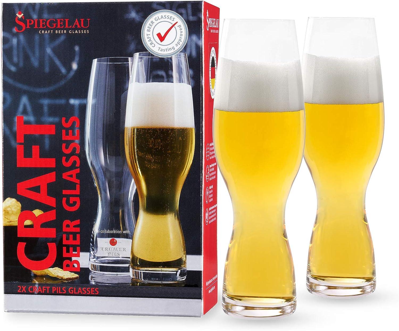 Set of 6 Spiegelau Beer Pilsner Or Wheat Beer Glasses Crystal Leadfree