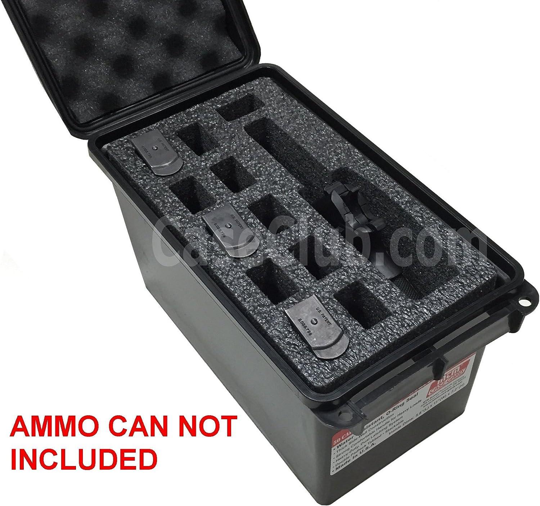 Precut Foam fits FAT 50cal .50 50 cal caliber Ammo Can fits 40 double Pistol Mag