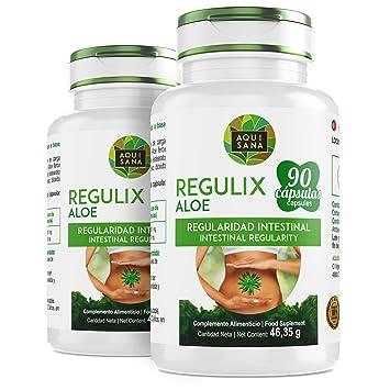 Regulix Aloe -Aquisana | Ayuda a favorecer una buena digestión | Pérdida de Peso |- Libre de alérgenos- 90 Cápsulas