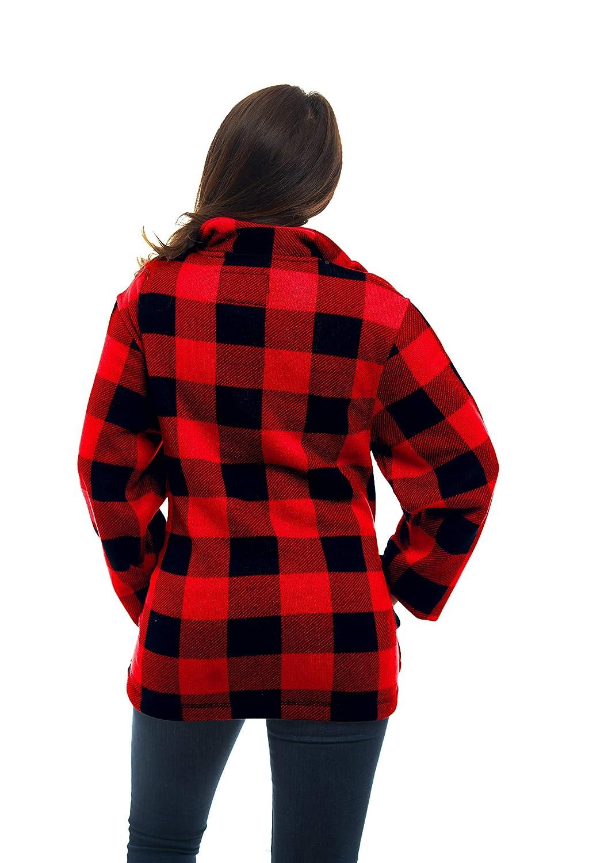 Amazon.com: Trailcrest Mujer – tartán rojo – Full cierre de ...