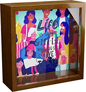Dentist Gift | 6x6x2 Memory Shadow Box | Themed Glass Fronted Keepsake Box for Dental Office Decor | Unique Funny Dental Gifts | Ideal Dentists Gifts for Women or Men