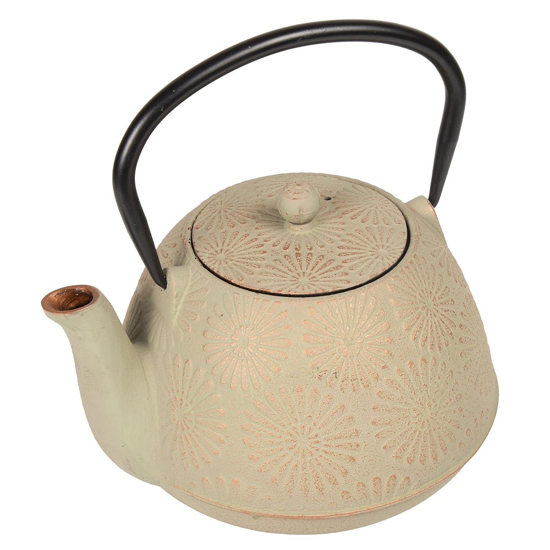Grey//Gold 40 oz Creative Home 73523 Kyusu Cast Iron Tea Pot With Infuser Basket