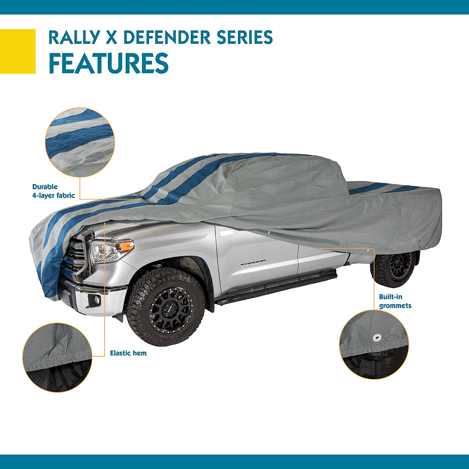 Duck Covers Rally X Defender Truck Cover For Crew Cab Dually Long Bed Trucks up to 22 ft L