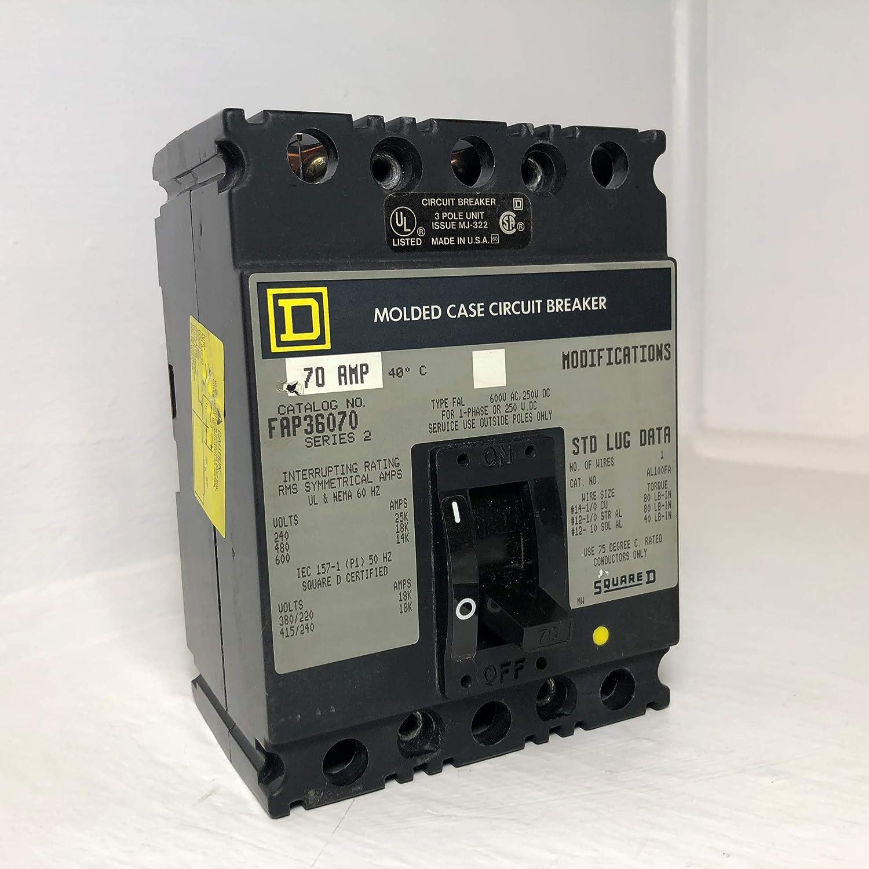 Square D FAP36070 70A - Disyuntor de circuito (480/600 V, 3 polos ...