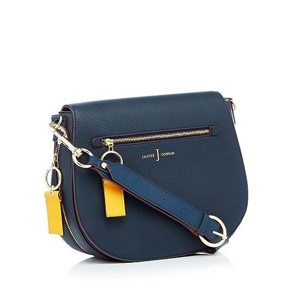 2314161dd5f3 J By Jasper Conran Navy  Richmond  Front Zip Detail Saddle Bag  J by Jasper  Conran  Amazon.co.uk  Clothing