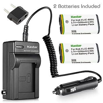 Amazon.com: Kastar Cargador, Batería para KLIC-8000 K8000 ...
