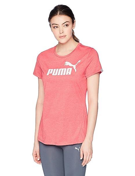 buy online b35f6 5d3a7 PUMA Women s Ess No.1 Tee Heather W, Paradise Pink Heather, ...