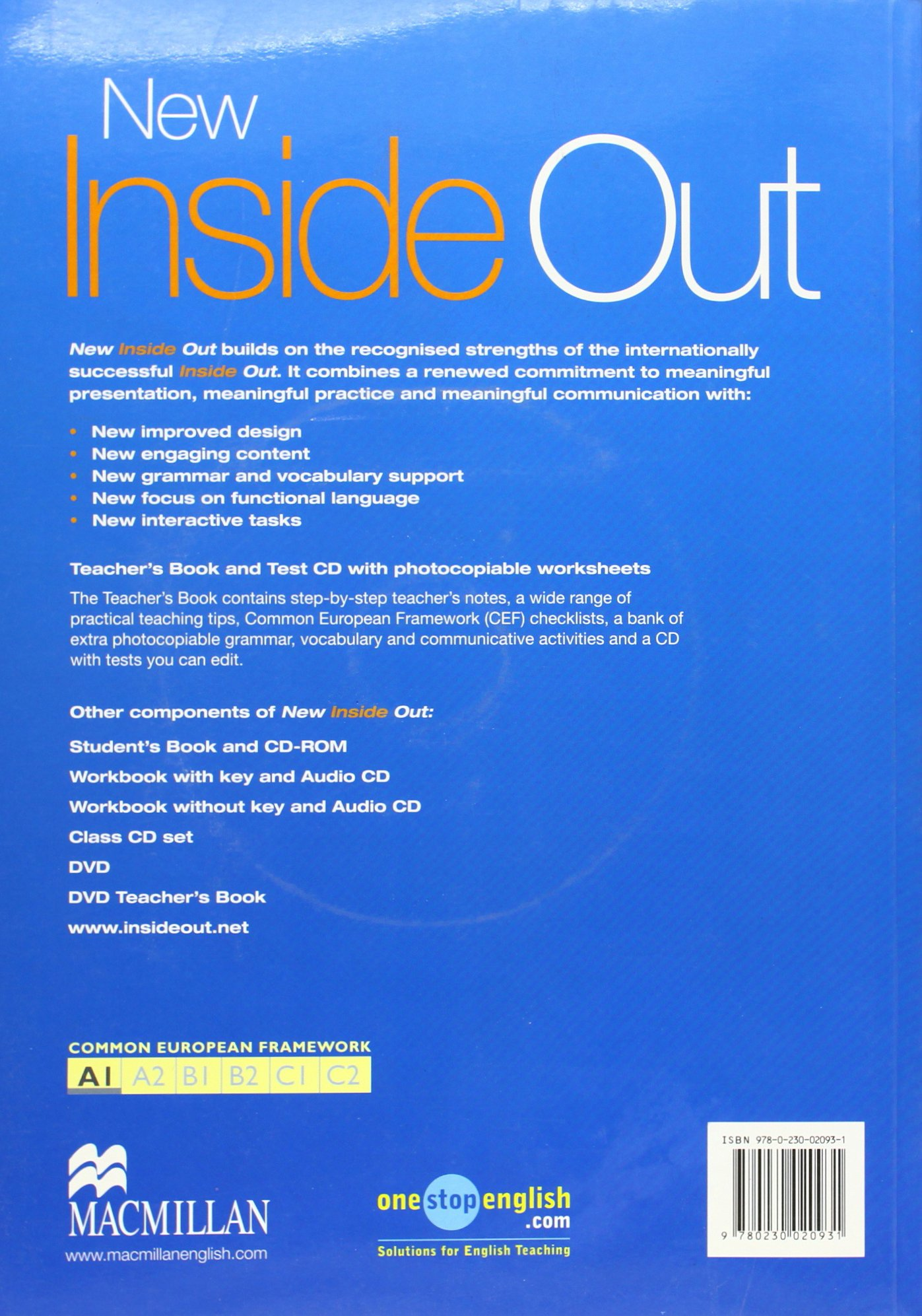 New Inside Out: New Inside Out - Teacher Book - Beginner - With Test CD -  CEF A1 Beginner: Sue Kay, Vaughan Jones, Helena Gomm, Caroline Brown, ...