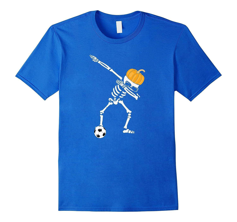 Funny Dabbing Dab Dance Soccer Ball Halloween Tshirt Pumpkin-ANZ