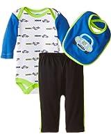 BON BEBE Baby-Boys Newborn Vroom Bodysuit with Bib and Pant Set