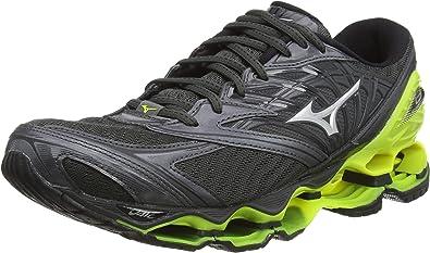 Mizuno Wave Prophecy 8, Zapatillas de Running para Hombre, Negro (Dark Shadow/Silver/Safety Yellow 05), 44.5 EU: Amazon.es: Zapatos y complementos