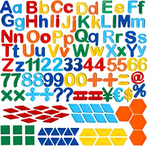 137 Pieces Magnetic Letters Numbers and Shapes Fridge Magnetic Phonics Letter Refrigerator Magnets Set for Ages Over 3 Early Educating Learning in Fun