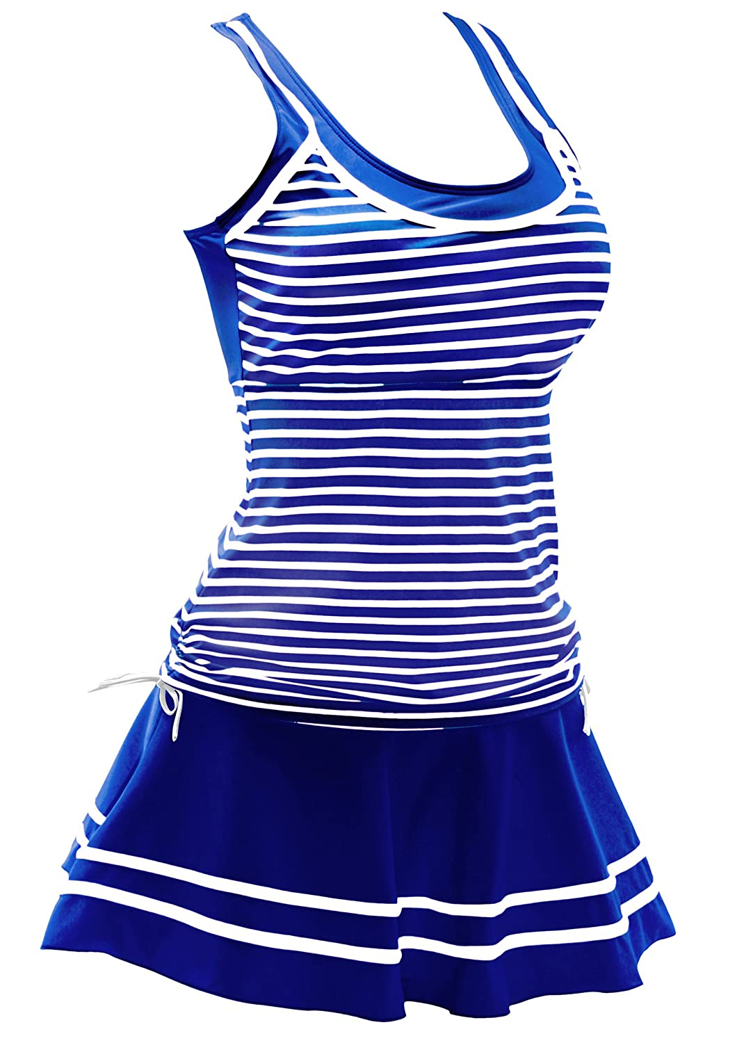 AONTUS Two Piece Tankini Bathing Suits High Waisted