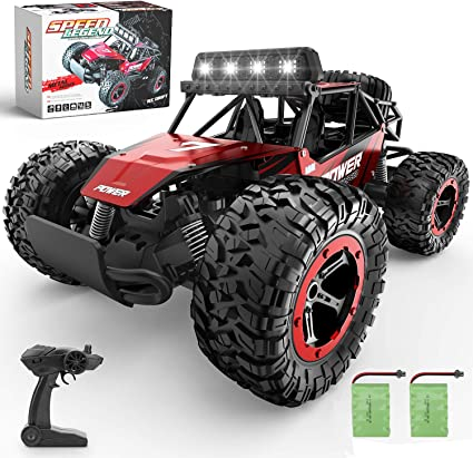 Amazon Com Bezgar 17 Toy Grade 1 14 Scale Remote Control Car 2wd High Speed 20 Km H All Terrains Electric Toy Off Road Rc Monster Vehicle Truck Crawler With Two Rechargeable Batteries For Boys