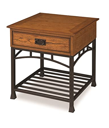 Home Style 5050 20 Modern Craftsman End Table, Distressed Oak Finish