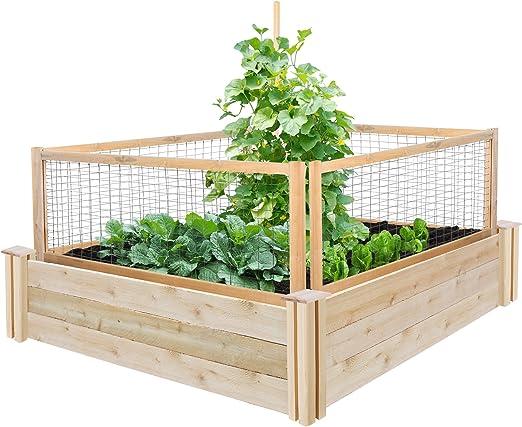 Greenes valla cedro recaudado jardín con critterguard sistema de ...