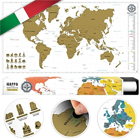 Benehacks scrape off world map poster in italian track your travel benehacks scrape off world map poster in italian track your travel adventures with detailed gumiabroncs Images