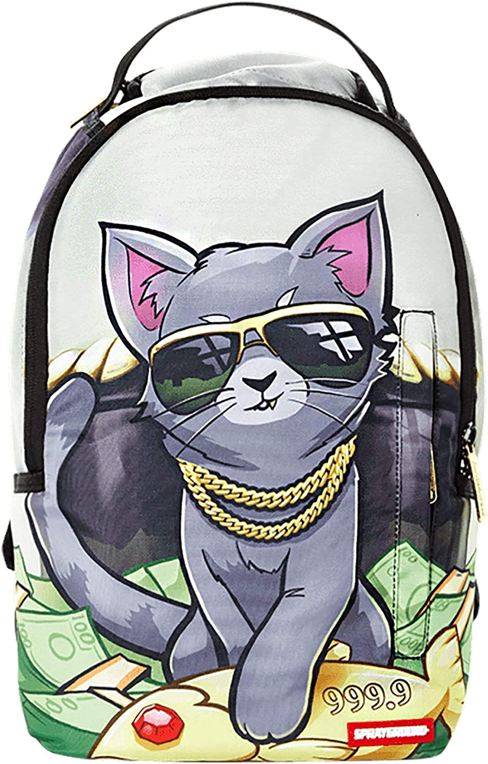 Sprayground Lil Kitten Facepack (O/S, Grey/Multi)