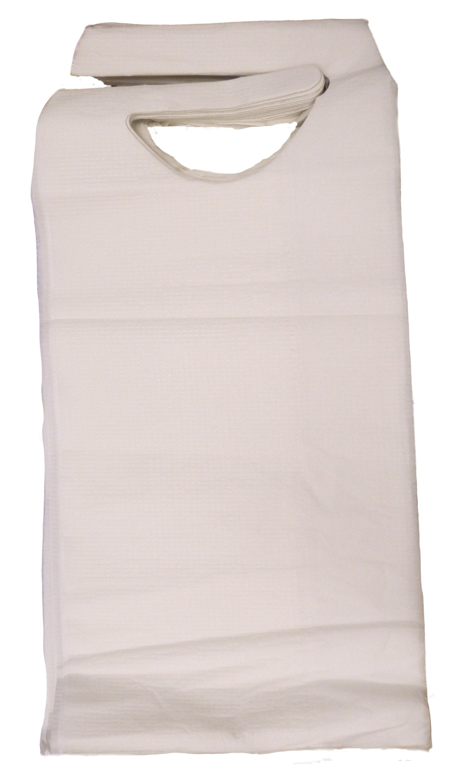 SNL Quality Disposable Adult Poly-Lined Bibs - 16'' X 33'' - Tie-Back (Pack of 150)