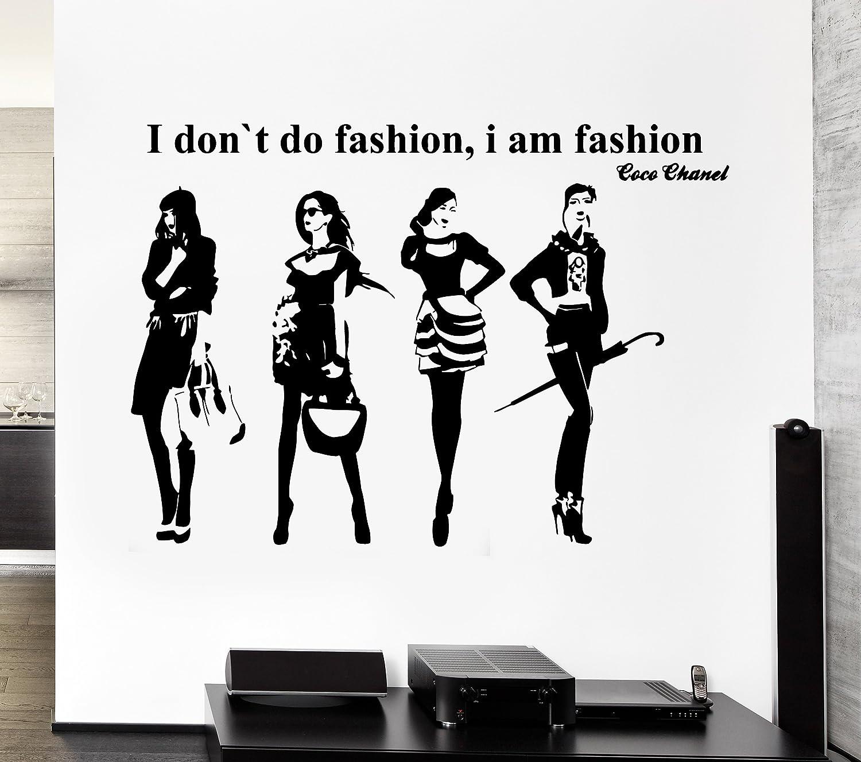 Amazon com wall stickers vinyl decal i dont do fashion i am fashion coco chanel quote z2224i home kitchen