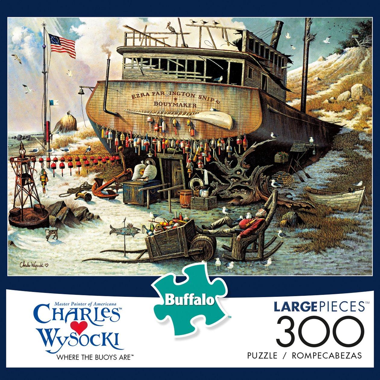 Buffalo Games 300 Large Piece Jigsaw Puzzle Charles Wysocki Where The Buoys Are