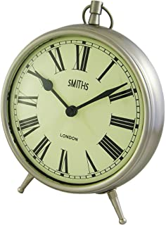 Smiths Smiths Large Chrome Fob Style Mantel Clock