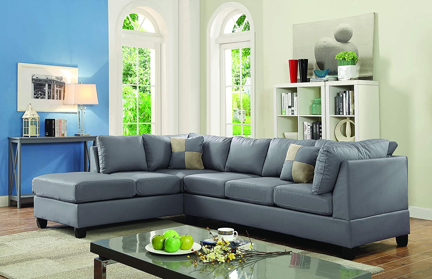 Amazon.com: Glory Furniture Malone G642B-SC Sectional, Gray ...