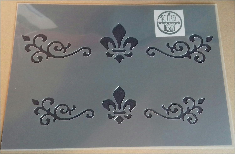 Shabby Chic M/öbel Schablone Damast Schublade Detailers A4/297/x 210/mm Designs B